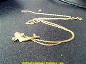 "18"" 14 KT Gold Rope Chain AND DOLPHIN PEN 14K Yellow Gold 1.7dwt"